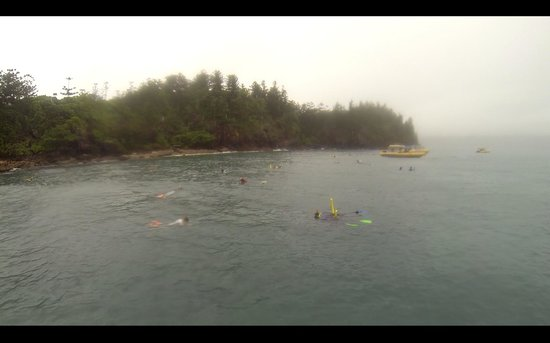 Ocean Rafting : snorkelling with poor visibility and rain