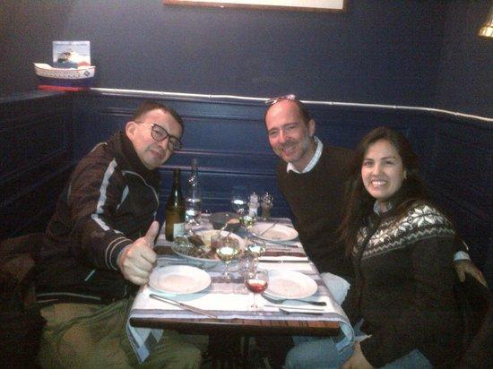 La Criee: Agustin, Marcelo y Carolina