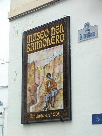 Museo del Bandolero: Вывеска Музея