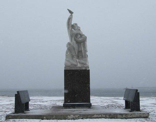 Nevelsk, Rosja: новое местоположение памятника у набережной