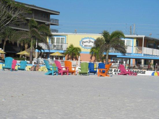 Plaza Beach Hotel - Beachfront Resort: Plaza Beach view from Gulf of Mexico