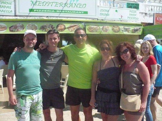 Meson Mediterraneo: Lucas & nous