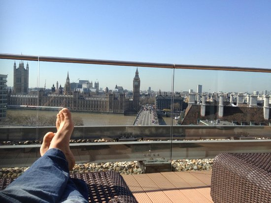 Park Plaza Westminster Bridge London : Tough to go wrong when you're private patio has this view.