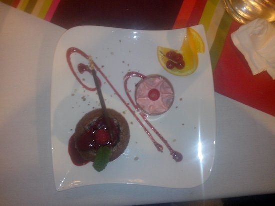 Auberge de l'Orangerie : The fondant au chocolat
