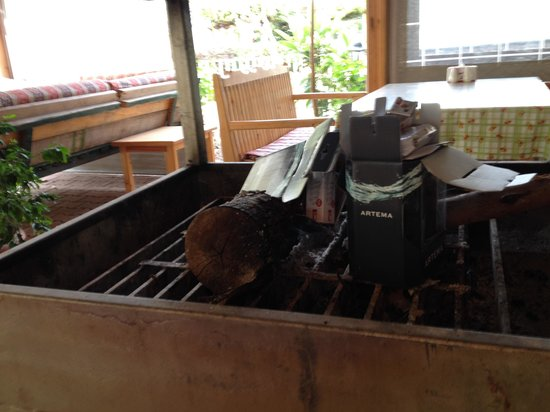 Ceylan Restaurant & Cafe: Trash in the grill