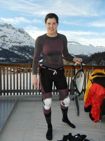 Nira Alpina: Terrasse des Zimmers
