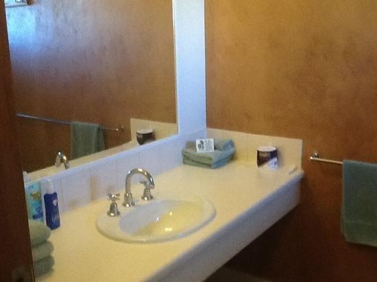 Mud Hut Motel: Big bathroom