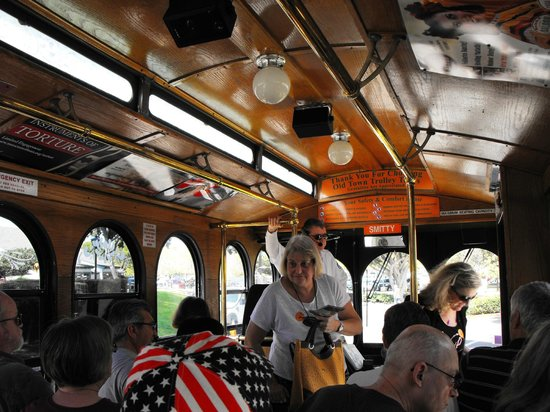 Old Town Trolley Tours of San Diego: Inside Smitty's Trolley