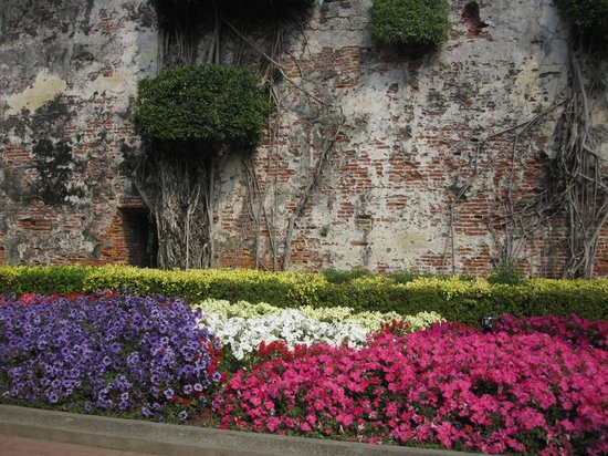 Anping Fort (Anping gubao): parterre tricolore