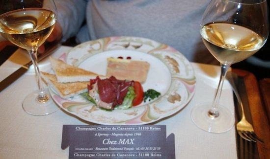 Restaurant Chez Max : Foie Gras Maison et Magret de Canard