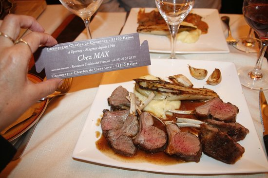 Restaurant Chez Max : Carré d'Agneau et son jus au Thym