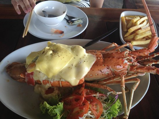 Sabienglae Restaurant: Baked lobster with cheese