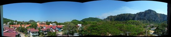 Aonang Miti Resort: ons balkon uitzicht