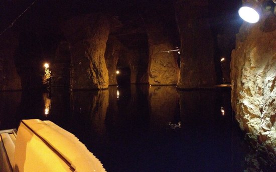 Bonne Terre Mine Tours - West End Diving: Small panoramic shot from my iPhone, just got on the boat.