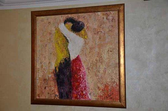Al Fresco: Hand Paint Inside the restaurant