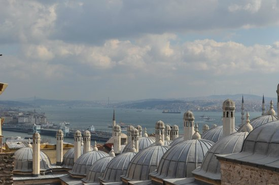 Süleymaniye-Moschee: Vue de la terrasse nord