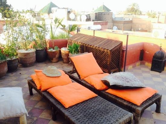 Riad Dar El Aila : on the upper terrace with amazing views