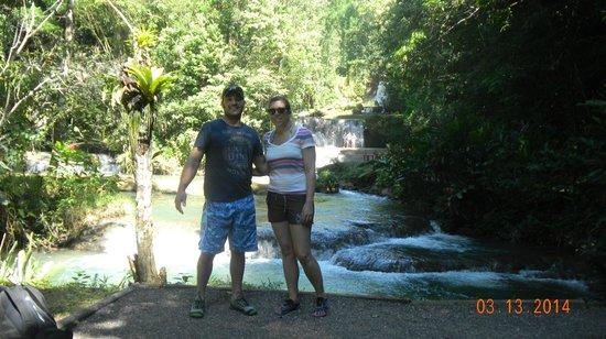 YS Falls: At the bottom of the falls