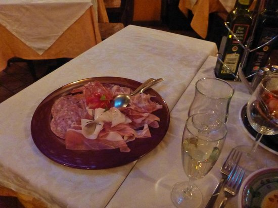 Mangiafuoco Bracerie: Traditional sliced meats.