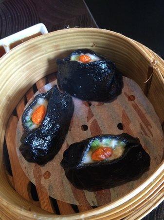 Ping Pong Dim Sum: Dim Sum with black squid