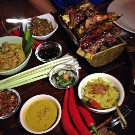 Bumbu Bali: Pork Ribs with Balinese BBQ sauce and Cardamom Lamb
