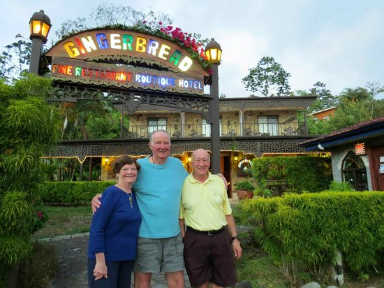 Gingerbread Restaurant: Joyce, Hans and Don before dining at Gingerbread