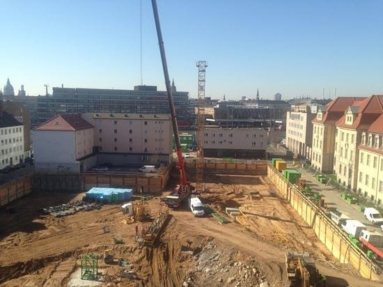 Crowne Plaza Hotel Hannover: work in progress ... from the window