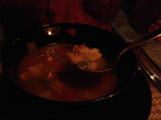 ZENZIBAR Beach Bar & Restaurant: Rote Curry Suppe, spicy