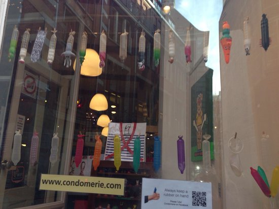 Condomerie: The best part of the shop - the window display