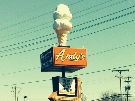 Andy's Frozen Custard: The sign to look for...