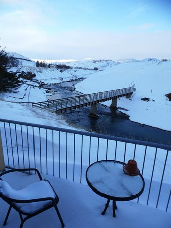 Frost and Fire Hotel: View from room
