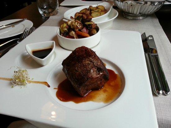 Elements Restaurant: beef fillet steak