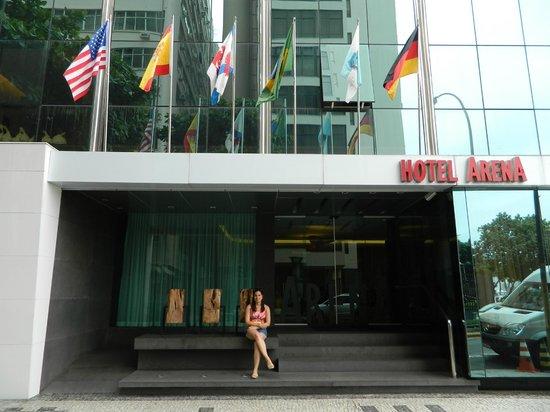 Arena Copacabana Hotel : Frente do hotel