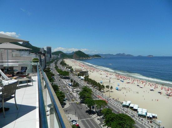 Arena Copacabana Hotel : Vista da cobertura do hotel