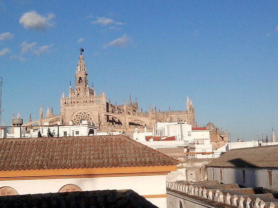 La Banda Rooftop Hostel Sevilla: view of the terrace