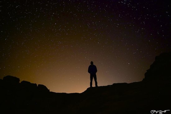 Obeid's Bedouin Life Camp: View of stars from camp