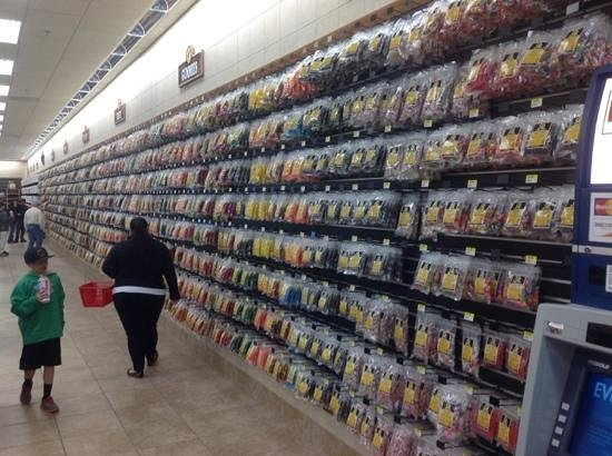 Buc-ee's: massive candy and snack wall