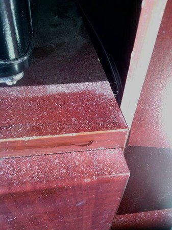 Holiday Inn Conference Center Marshfield : thick layer of dust on microwave cabinet
