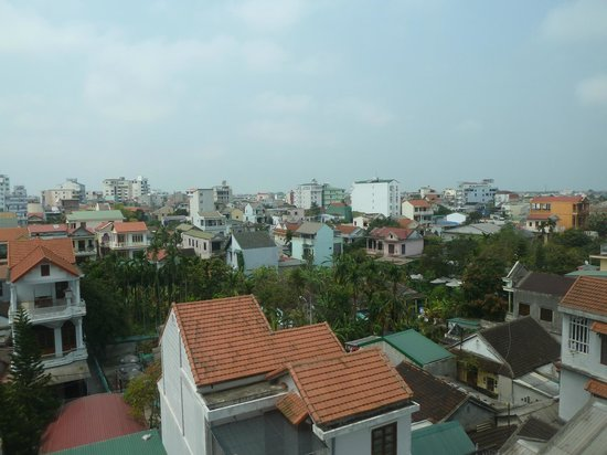 Gold Hotel Hue : View from our room.