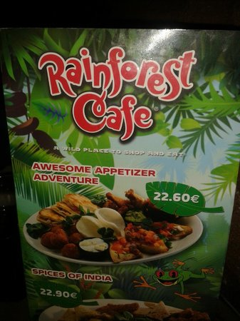 Rainforest Café: CARTE