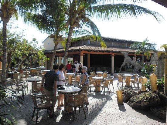 Melia Cayo Santa Maria: Theatre and outdoor bar seating