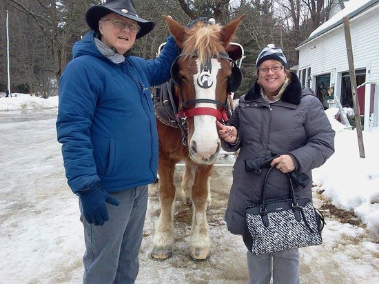 Stables at the Farm by the River: Read Cathy & Bob after sleigh ride