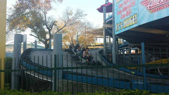 Fun Spot America: Go karts were the main attraction for my kids.