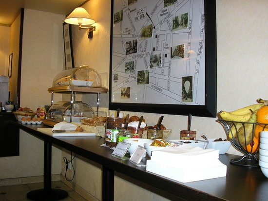 Hotel Pax Opera: Parte del buffet