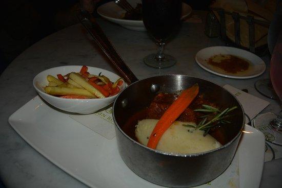 Raglan Road Irish Pub & Restaurant: Braised Be. Beef – Braised beef with horseradish mashed potatoes, roasted carrots & parsnips