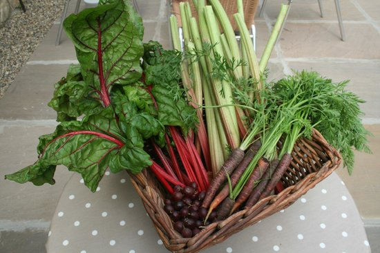 The Barn Cafe Bistro: Home grown veg
