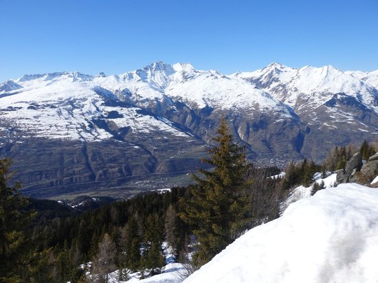 Chalet D'altitude De L'Arpette : vue de la terrasse 2