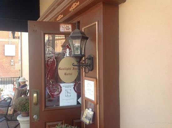 Gas Light Inn : Back door at the Inn