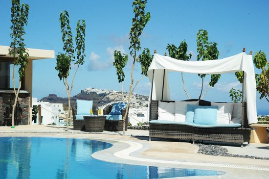 Santorini Mesotopos: View from the pool. Caldera