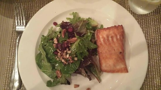 Lumber Yard: My salad with Salmon. Simple, yet flavorful!